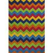 KAS Rugs Kidding Around Multi Cool Ziggy Zaggy Area Rug; 2' x 3'