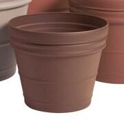 Akro-Mils Lawn & Garden Round Pot Planter; Chocolate