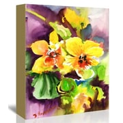 Americanflat Yellow Orchids Painting Print on Gallery Wrapped Canvas; 48'' H x 32'' W x 1.75'' D