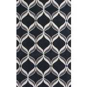 KAS Rugs Zolo Black Ribbons Area Rug; 3'3'' x 5'3''