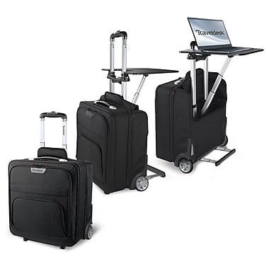Stebco travel desk mobile work station staples - The mobile office working on two wheels ...