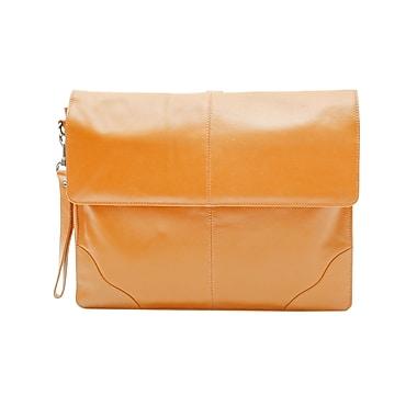 Ashlin Genuine Leather Underarm Briefcase Valise, Medium Brown