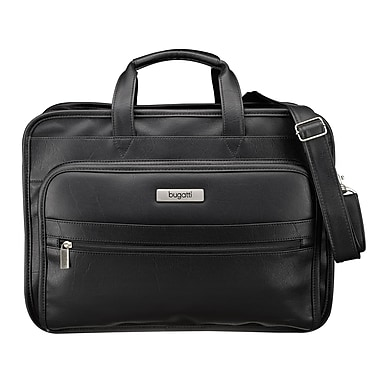 Bugatti Synthetic Leather Executive Laptop Briefcase, Up to 15.6