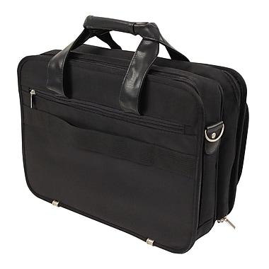 Bond Street Executive Briefcase in Ballistic Nylon, Black