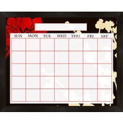 PTM Images Lotus Wall Mounted Calendar/Planner Whiteboard, 2' x 2'