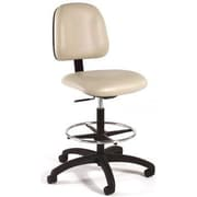 Intensa Height Adjustable Laboratory Stool w/ Seat and Back Tilt; Black Composite