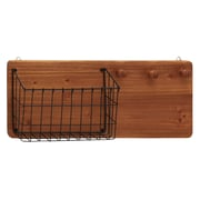 Woodland Imports Fantastic Wood Metal Wall Storage Rack
