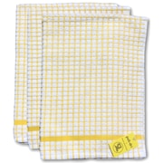 Gerbrend Creations Inc. 3 Piece Checkered Kitchen Towel Set; Yellow
