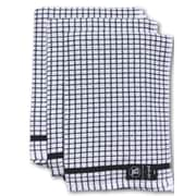 Gerbrend Creations Inc. 3 Piece Checkered Kitchen Towel Set; Black