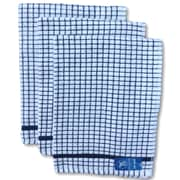 Gerbrend Creations Inc. 3 Piece Checkered Kitchen Towel Set; Blue