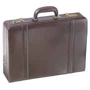 Mancini Business Leather Attach  Case; Burgundy