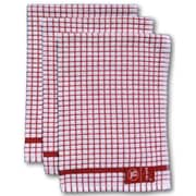 Gerbrend Creations Inc. 3 Piece Checkered Kitchen Towel Set; Red