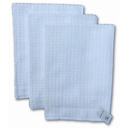 Gerbrend Creations Inc. 3 Piece Checkered Kitchen Towel Set; White
