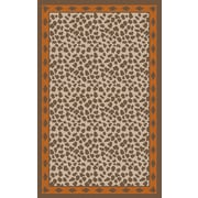 Surya Nantes Animal Print Burnt Orange/Brrown Area Rug; 8' x 11'