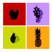 Maxwell Dickson 'Fruits' 4 Piece Graphic Art on Wrapped Canvas Set; 36'' H x 36'' W x 1.5'' D