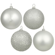 Vickerman Ball Assorted Christmas Ornament (Set of 12); Silver
