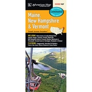 Universal Map Maine/New Hampshire/Vermont State Laminated Map