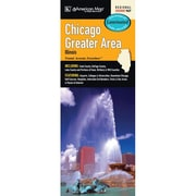 Universal Map Chicago Greater Area Laminated Map