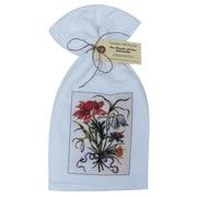 Golden Hill Studio Floral Bouquet/Ribbon Flour Sack Towel (Set of 3)