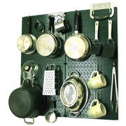 Wall Control Kitchen Organizer Pots & Pans Pegboard Pack; Green / White