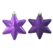 Vickerman Star Christmas Ornament (Set of 36); Purple