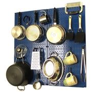 Wall Control Kitchen Organizer Pots & Pans Pegboard Pack; Blue / Black