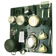 Wall Control Kitchen Organizer Pots & Pans Pegboard Pack; Green / Red