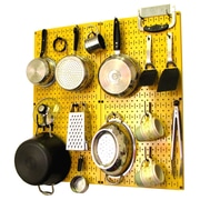 Wall Control Kitchen Organizer Pots & Pans Pegboard Pack; Yellow / Black