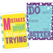 "Barker Creek 13-3/8"" x 19"" Happy Keep Trying Poster Duet Set, 2 Posters/Set"