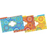 Barker Creek Moroccan Fashion File Folders, legal size, 1/3 cut, multi-design set, 9/Pack