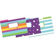 Barker Creek Happy Fashion File Folders, legal size, 1/3 cut, multi-design set, 9/Pack