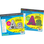 "Barker Creek 4"" Rainbow & White Chalkboard Letter Pop-Outs & Poster Letters, 468 characters/Set"
