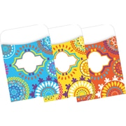"Barker Creek Moroccan Peel & Stick Library Pockets, 3-1/2"" x 5-1/8"", multi-design set, 30/Pack"
