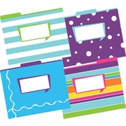 Barker Creek Happy Fashion File Folders, letter size, 1/3 cut, multi-design set, 12/Pack