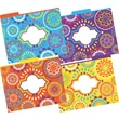 Barker Creek Moroccan Fashion File Folders, letter size, 1/3 cut, multi-design set, 12/Pack