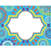 "Barker Creek Moroccan Name Tags & Self-Adhesive Labels, 3-1/2"" x 2-3/4"", multi-design set, 45/Pack"
