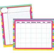 "Barker Creek 17"" x 22"" Happy Calendar & Incentive Chart Set, Reproducible Activities on the Backs, 2 Charts/Set"