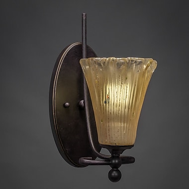 Toltec Lighting Capri 1-Light Wall Sconce; Amber