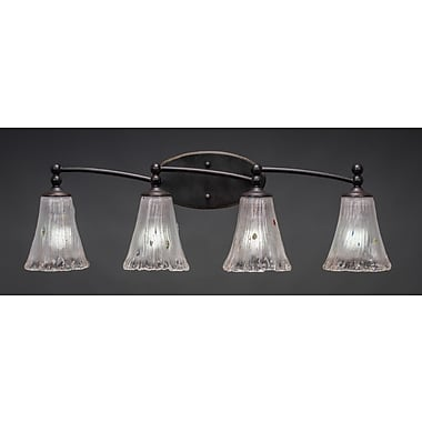 Toltec Lighting Capri 4 Light Vanity Light; Frosted