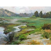 GreenBox Art 'Shades of Green at San Elijo' by Stanislav Prokopenko Painting Print on Wrapped Canvas