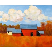 GreenBox Art 'Autumn Glory' by Robert Kennedy Painting Print on Wrapped Canvas