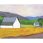 GreenBox Art 'Horse Ranch' by Robert Kennedy Painting Print on Wrapped Canvas