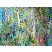 GreenBox Art 'Abstract Woodland' by Angelo Franco Painting Print on Wrapped Canvas