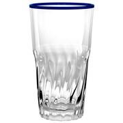TarHong Cantina Jumbo Acrylic 19 Oz. Glass (Set of 6); Blue
