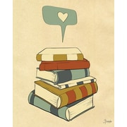 Wheatpaste I Heart Books by Susana Parada Painting Print on Wrapped Canvas