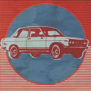 Wheatpaste Retro Ride Red Car by Paste Face Graphic Art on Canvas; 18'' H x 18'' W x 1.5'' D