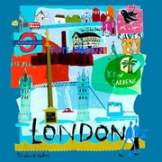 GreenBox Art 'Tour London' by Susy Pilgrim Waters Painting Print on Wrapped Canvas
