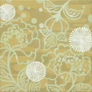 GreenBox Art 'Taupe Floral' by Sally Bennett Painting Print on Wrapped Canvas in Green
