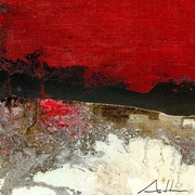 GreenBox Art Red Line Series #15 by Andy Anh Ha Painting Print on Wrapped Canvas