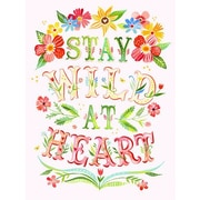 GreenBox Art 'Stay Wild at Heart' by Katie Daisy Graphic Art on Wrapped Canvas